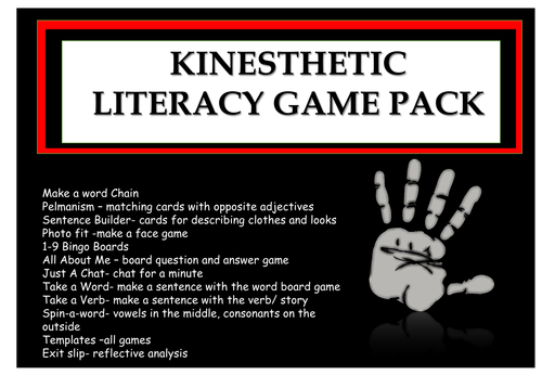Literacy Games Pack