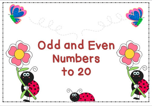 Odd and Even Numbers to 20