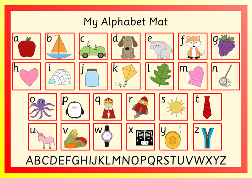 Alphabet Mat and Cards. CVC Cards and Puzzle.