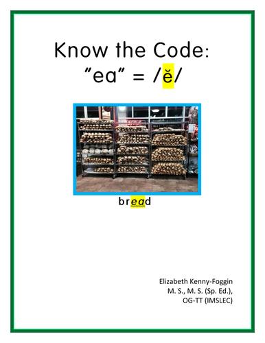 "Know the Code: ""ea"" - short e sound"