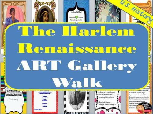 Harlem Renaissance ART GALLERY WALK Activity (U.S. History)