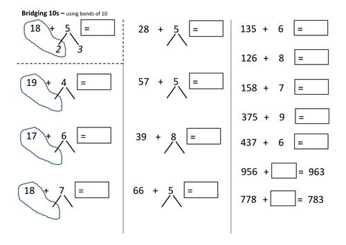 subtraction subtraction worksheets bridging 10 free math worksheets for kidergarten and. Black Bedroom Furniture Sets. Home Design Ideas