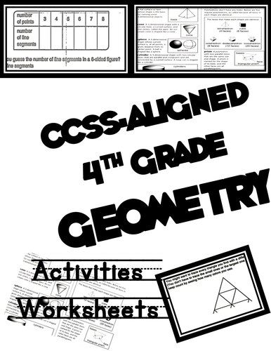 Common Core 4th Grade Geometry Worksheets
