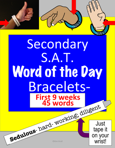 Secondary S A T  Word-of-the-Day BRACELETS-- First 45 word