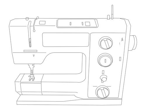 Drawing of Bernina 1008 sewing machine