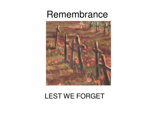 Remembrance Day  assembly powerpoint