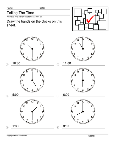 Telling The Time 96 Worksheets with Answers Maths Differentiated Clocks KS1  KS2