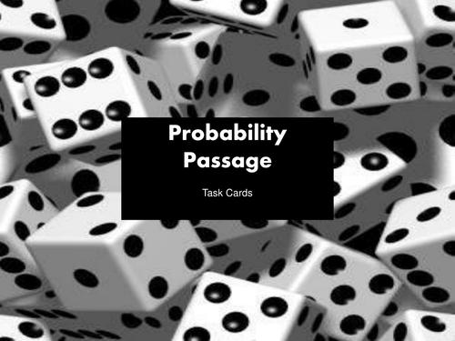 Probability Task Cards - 7th Grade Common Core