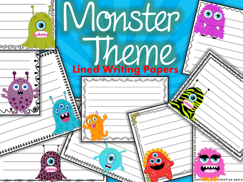 Monster writing paper