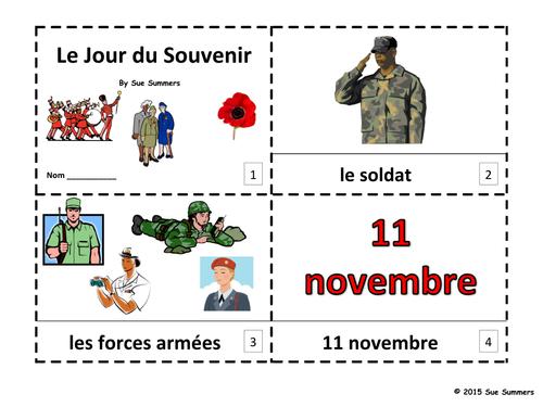 French Remembrance Day 2 Emergent Reader Booklets - Le Jour du Souvenir