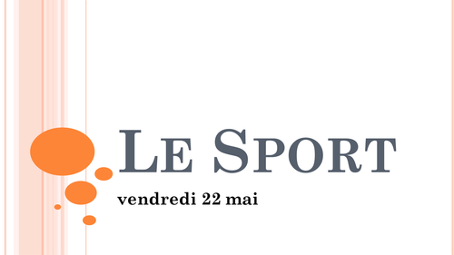 Le Sport Resource Pack KS3 or KS4 revision