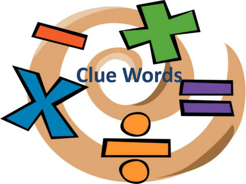 Clue Words Posters
