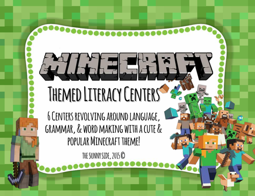 MINE-CRAFT MANIA! Literacy Centers