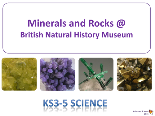 Minerals and Rocks from Natural History Museum