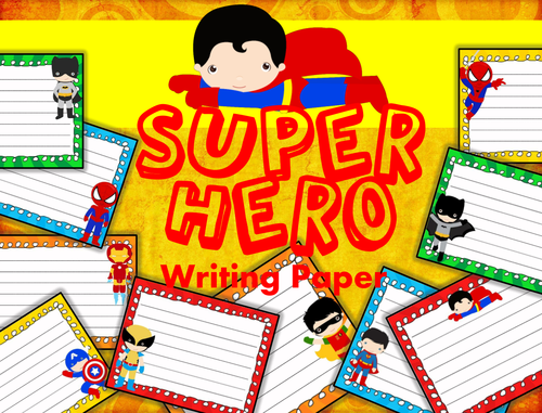 my hero writing paper My english teacher recently asked me to write an essay about what i think a hero is below is the completed assignment expressing my personal definition.