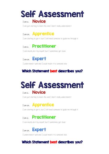 Self Assessment Handout