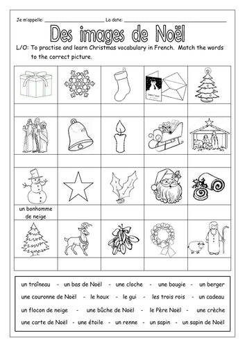 french christmas des images de no l worksheets by labellaroma teaching resources. Black Bedroom Furniture Sets. Home Design Ideas