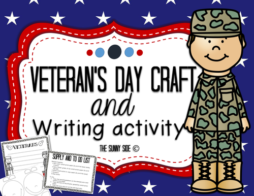 Simple Veteran's Day Craft & Writing Activity