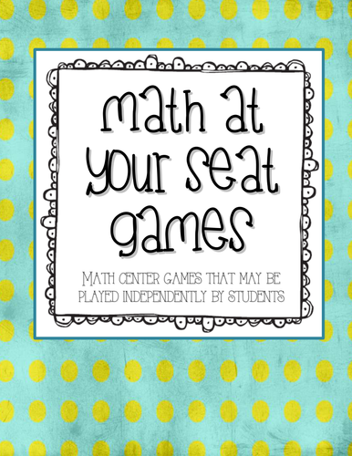 Math At Your Seat Games