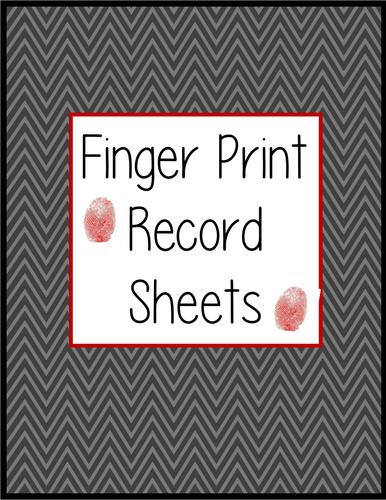 Finger Print Record Sheet