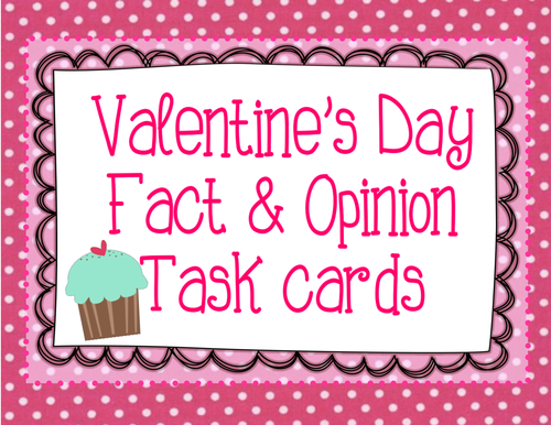 Valentine's Day Fact & Opinion Task Cards