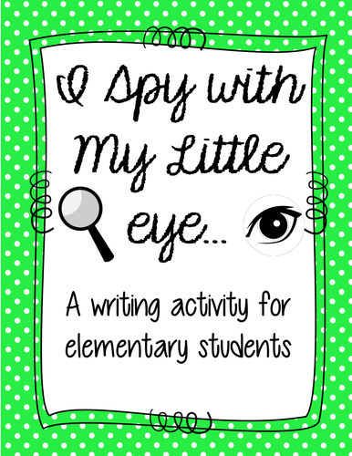 I Spy Descriptive Writing Activity