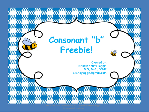 "Know the Code: Trace, Circle, Say, then Play - Consonant ""B"" Free Resource"