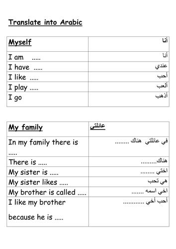 Arabic GCES Basic pharase _ all topics_ speaking