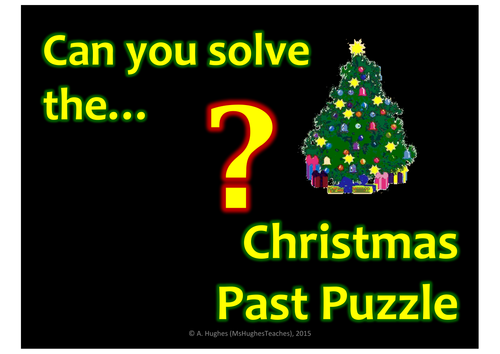 What happened in Christmas Past? Puzzle