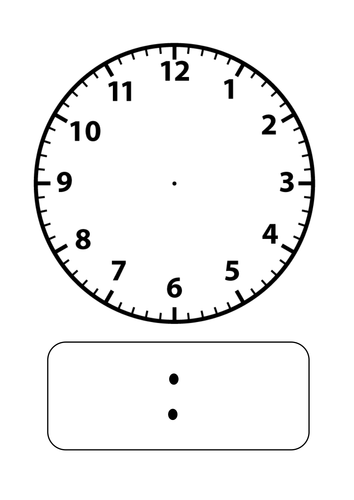 Blank clock faces by stevm117 - Teaching Resources - Tes