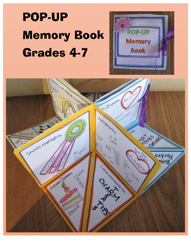 End of Year Activities: POP-UP Memory Book (Grades 4-7)