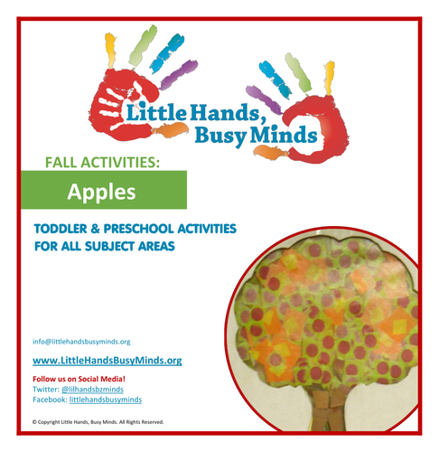 Fall Activities - Apples:  Weekly Thematic Unit