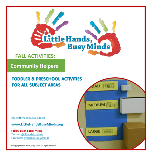 Fall Activities - Community Helpers:  Weekly Thematic Unit
