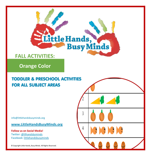 Fall Activities - Orange Color:  Weekly Thematic Unit