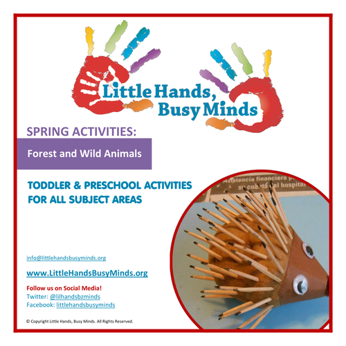 Spring Activities - Forest and Wild Animals:  Weekly Thematic Unit