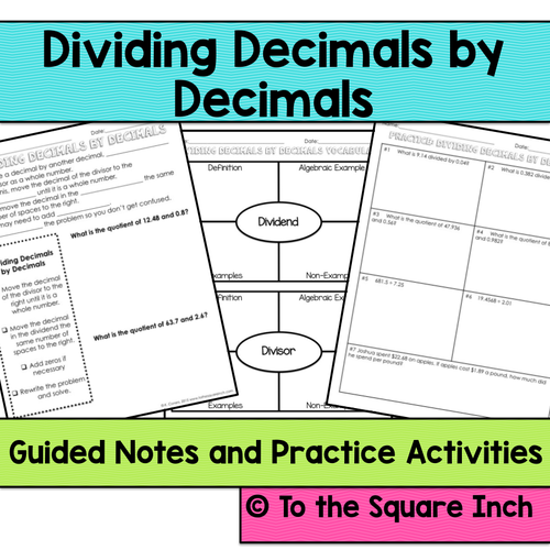 dividing decimals by decimals by katembee teaching resources tes. Black Bedroom Furniture Sets. Home Design Ideas
