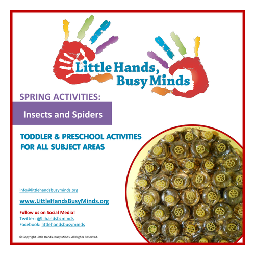 Spring Activities - Insects and Spiders:  Weekly Thematic Unit
