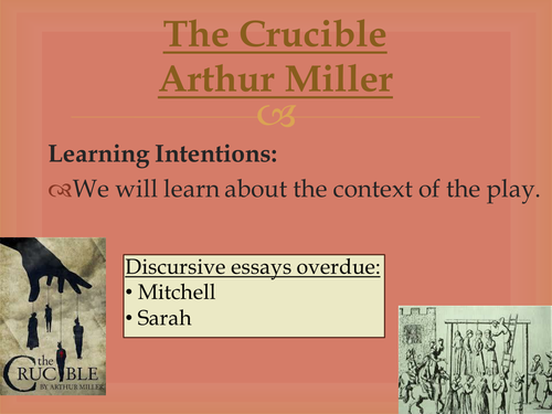 an analysis of the concept of the crucible a play by arthur miller Reverend john hale is the idealistic witch hunter in 'the crucible' explore the character and how he grew during the course of arthur miller's famous play.