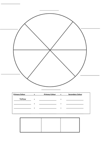 Primary and Secondary Colour Wheel Template by amackay22 ...
