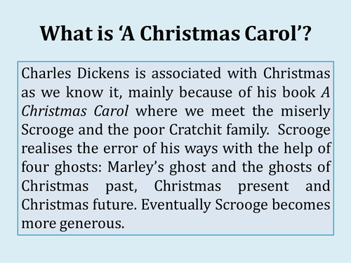 Charles Dickens\' A Christmas Carol - Complete Scheme of Work (SOW ...