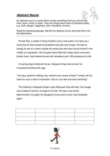 S1 Literacy Homework Pack