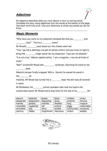 S2 Literacy Homework Pack