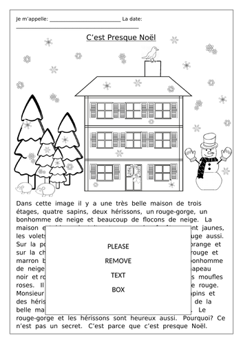 FRENCH ~ CHRISTMAS ~ C'est Presque Noël ~ Comprehension by