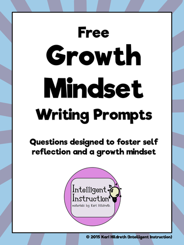 growth mindset two free writing prompt worksheets by intelligentinstruction teaching. Black Bedroom Furniture Sets. Home Design Ideas