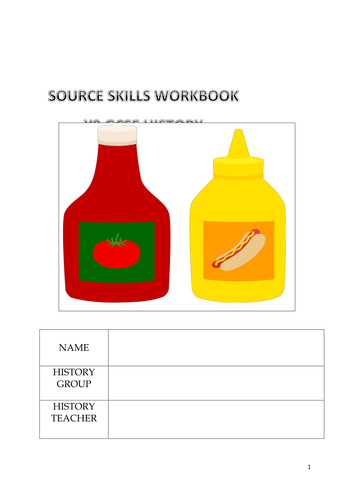 Scheme of Work - How to Analyse Sources in History