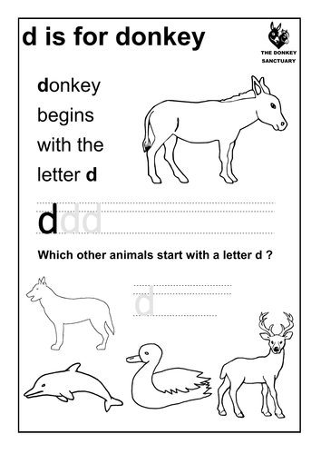 d is for donkey; animals