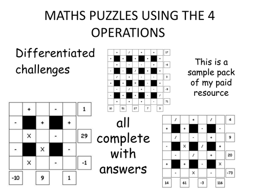 maths puzzles - tricky!