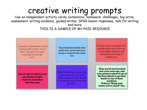 Creative writing homework ks2