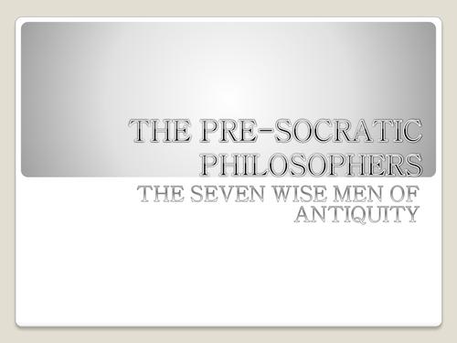 Τhe pre-socratic philosophers