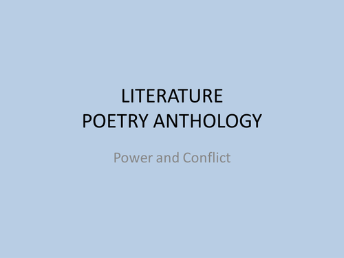 AQA Power and Conflict poetry anthology - brief notes